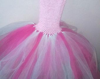 Pink and white tutu dress