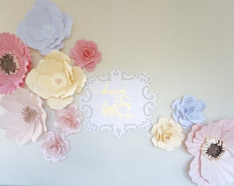 Giant Wall Paper Flowers