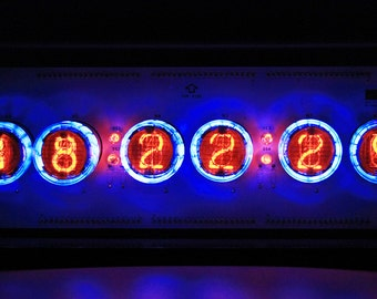 Nixie Röhren Uhr / Nixie Tube Clock / N-QS30-A / Neu New -- Work of NIXIE TIMES