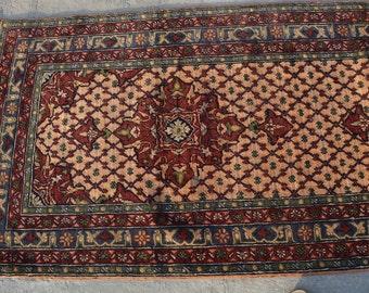8'11 x 2'9 FT wool Handmade Vintage Caucasian rug Runner Long rug runner