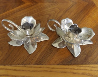 Silverplated Candlestick Holders.