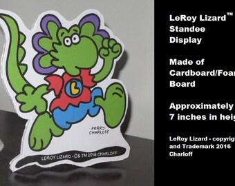 LeRoy Lizard Mini Standee Display