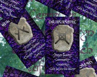 Dragon rune card deck