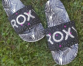 Blinged Roxy Slides