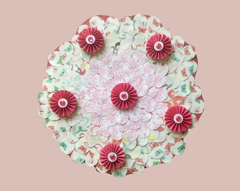 SHABBY CHIC NURSERY, Little Girls Room, Little Girls Room Decor, Tween Room Decor, Baby Girl Shower, Floral Wreath, Toddler Tea Party, Pink