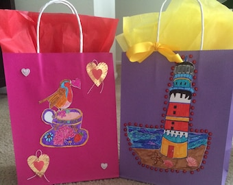 GIFT BAGS PAPER/Gift Bags with Handles/Gift Bags Assorted/Wedding Shower/Birthday Party Supplies
