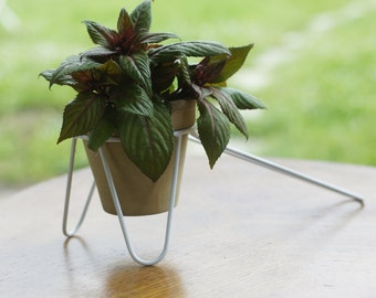 Metal Pot Stand for plants - Plant Stand-  asymmetric tripod model