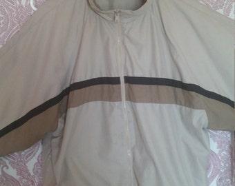 Vintage Track Jacket Windbreaker tan brown