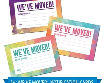 Moving House / NEW Home Notification Cards, Pack of 16, Watercolour Design