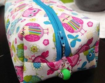 Cute Owls Zippered Pouch Bag