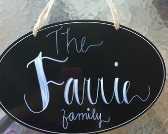 Personalized Family Sign, Chalkboardsign,Home Decor