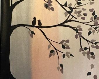 Canvas 7, Metallic Birds