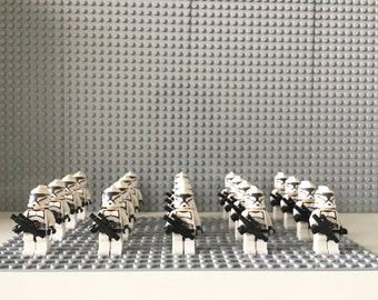 Clone Trooper Army 20 X Minifigures LEGO Compatible Star Wars + Base plate 16 X 32