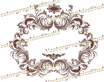 Digital frames clipart luxury ruby frame clip art instant download