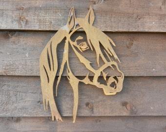 Rusty Metal Horse Head / Horse Wall Decor / Rusty Metal Horse Garden Deco / Horse Gift / Horse Wall Art / Horse Garden Art /Metal Garden Art