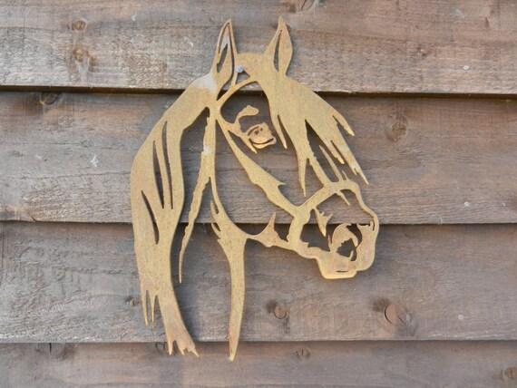 Rusty Metal Horse Head / Horse Wall Decor / Rusty Metal Horse