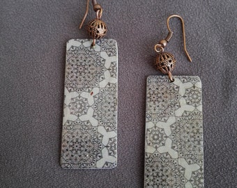 Handmade earrings elegant Aluminums