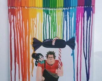 Wreck It Ralph rainbow crayons