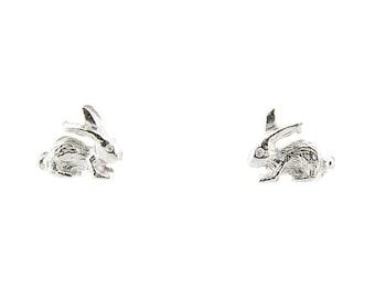 Sterling Silver Children's Bunny Rabbit Stud Earrings