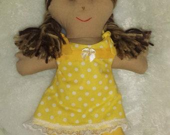 Handmade Fabric Ragdoll, Fabric Doll
