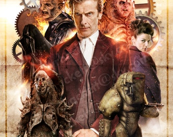 DOCTOR WHO A3 POSTER Print - Series 9 'The Doctor and the Monsters'