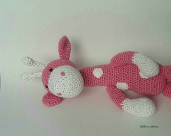 Giraffe pink amigurumi