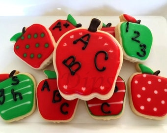 Sugar Cookies, Apples, Back to school, Teacher Appreciation Week