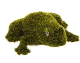 Flocked Grass Moss Artificial Frog Fairy Garden Fantasy DIY Terranium  Floral Art