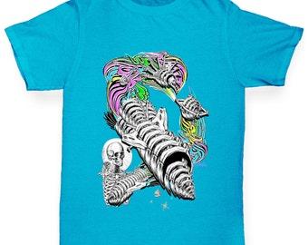 Boy's Skellington Rainbow Rocket T-Shirt