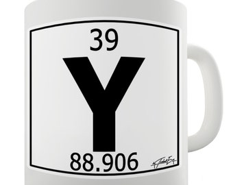 Periodic Table Of Elements Y Yttrium Ceramic Novelty Gift Mug