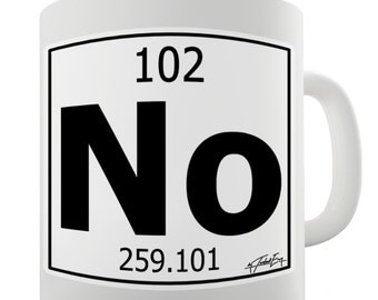 Periodic Table Of Elements No Nobelium Ceramic Mug