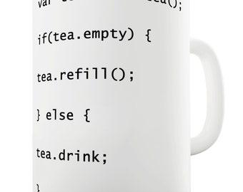 Programmers Tea Code Ceramic Funny Mug