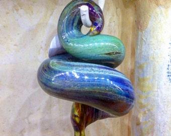 Glass Snake Bead Pendant