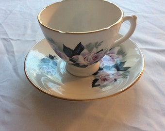 Genuine Bone China Vintage Tea Cup and Saucer Made in England