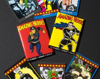 Amazing Heroes trading cards--full set