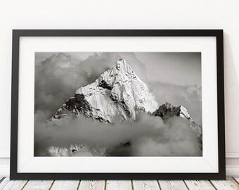 Mountain Photo Print, Art Print, Original Photo, Himalaya mountains Ama Dablam, David Mossop Photo