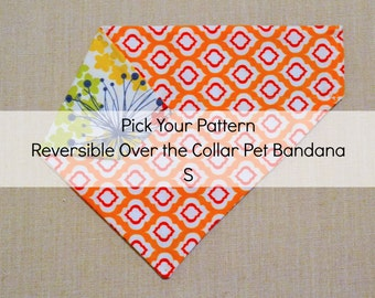 S Pick Your Pattern Reversible Over the Collar Pet Bandana