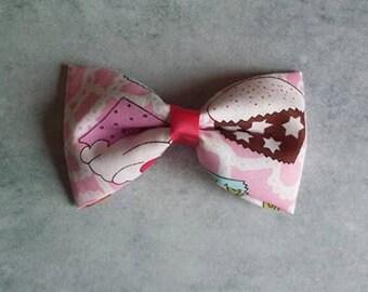 Cupcake Fabric Hair Bow