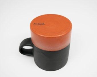 Handmade Black Satin Ceramic Mug