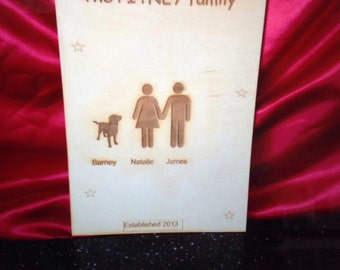 Family sign (personalised)