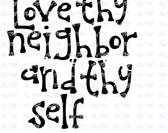 Love thy neighbor | Etsy