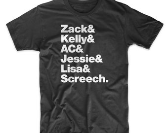 Saved By The Bell Shirt On Black, White, Red or Gray Soft Cotton T-Shirt.