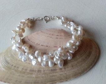 Freshwater Pearl Bracelet,Keshi Pearl Bracelet