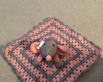 Baby girl mouse security blanket