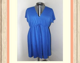 Periwinkle Drawstring Dress