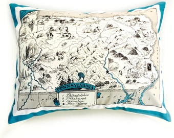 Pennsylvania  State Pillow Cover with Insert