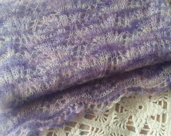 New hand knitted women mohair scarf