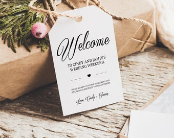 Wedding tag template favor tag welcome bag tag thank you for Tags for gift bags template