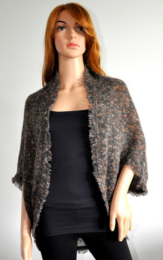 Batwing Cardigan Warm Comfortable oversized shrug for women Ready to Ship Boho Sweater Cocoon coat wrap jacket knit loose cardigan Wool