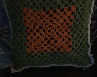 Crochet throw pillows